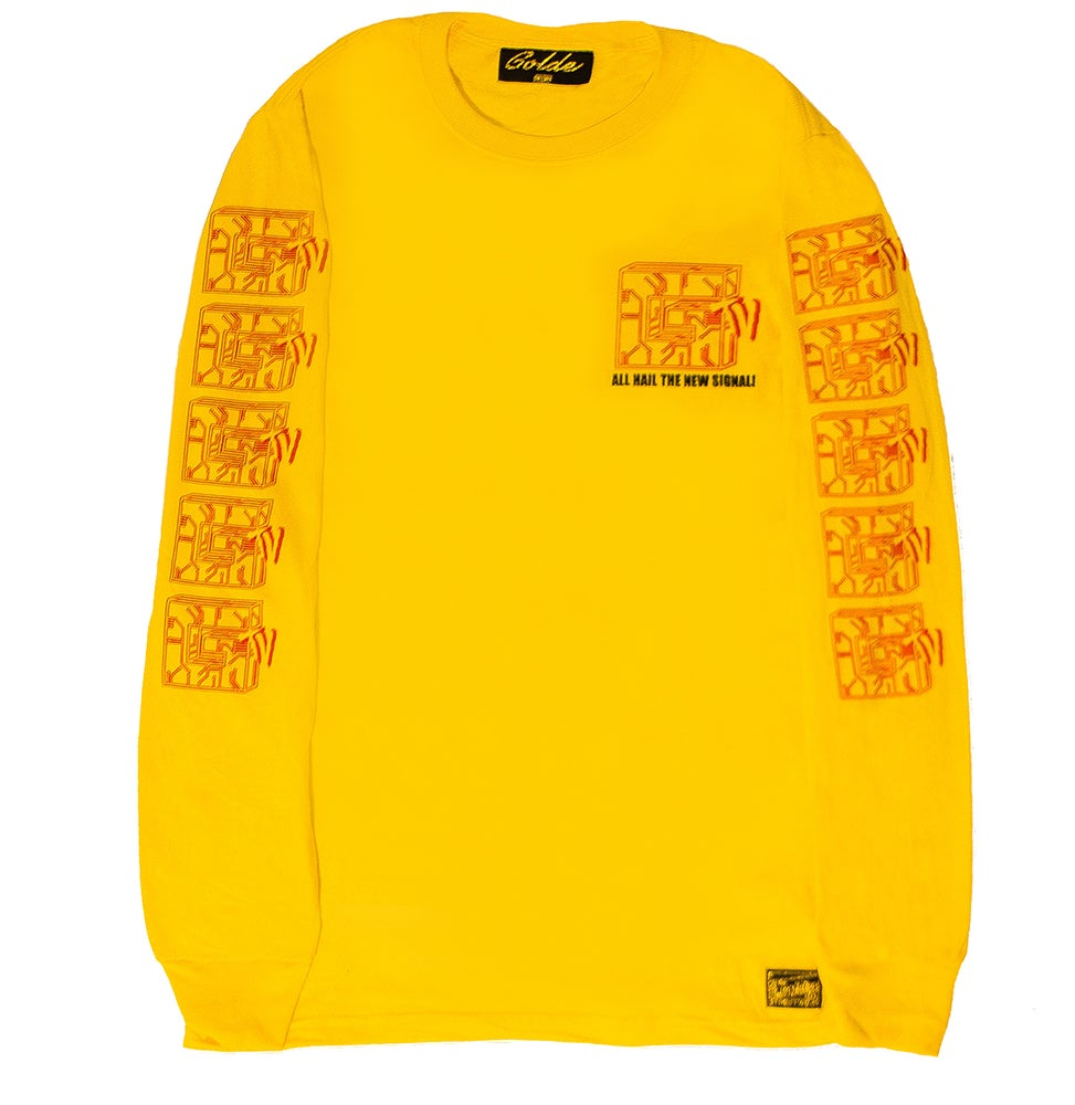 Image of YELLOW CIRCUITBOARD LONGSLEEVE