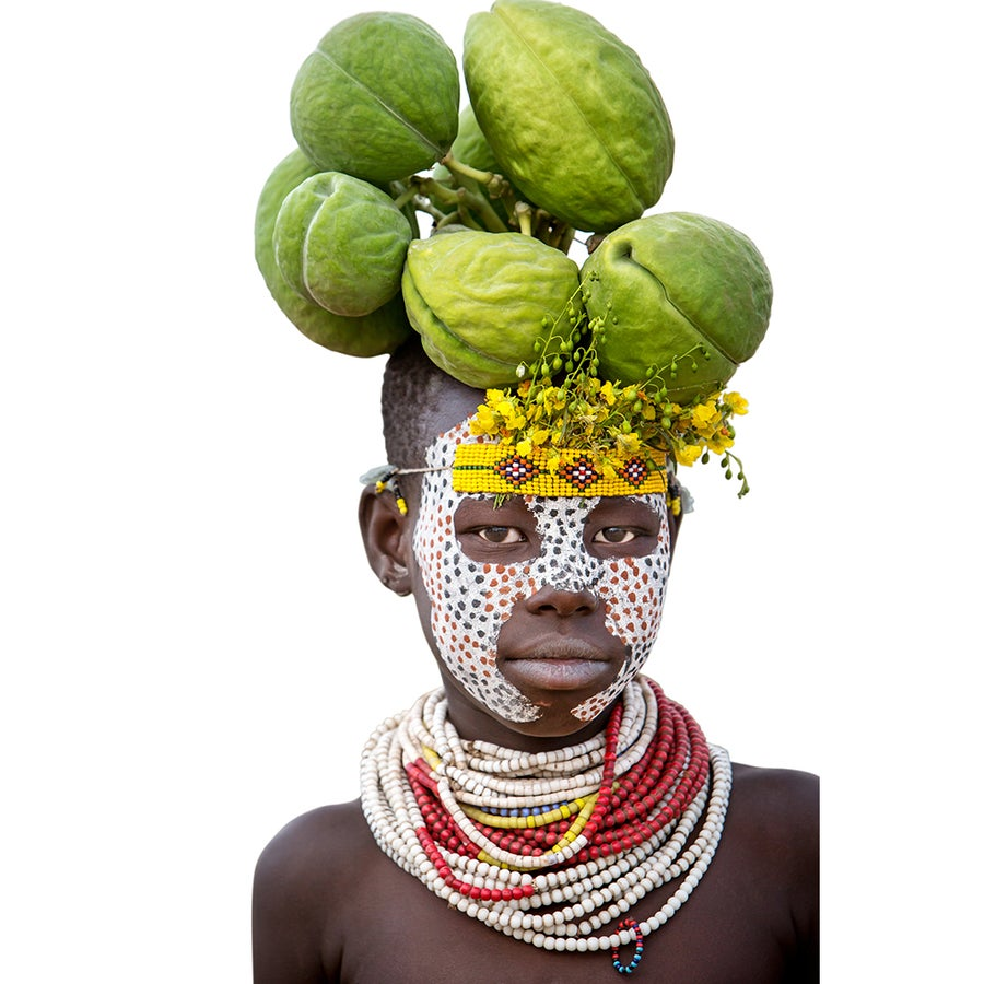 Image of CANVAS - GREEN PODS - Young Kara boy