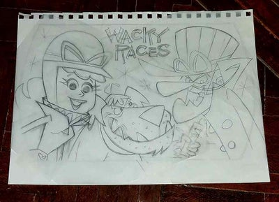 Image of WACKY RACES 9x12 SKETCHBOOK PENCIL SKETCH