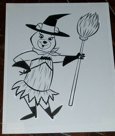 Image of CINDY BEAR 8.5x11 ORIGINAL ART - HALLOWEEN