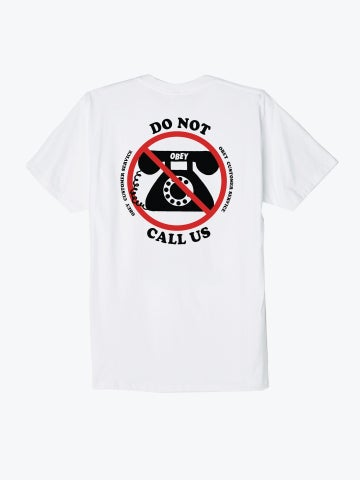 Image of OBEY - CUSTOMER SERVICE TEE (WHITE)