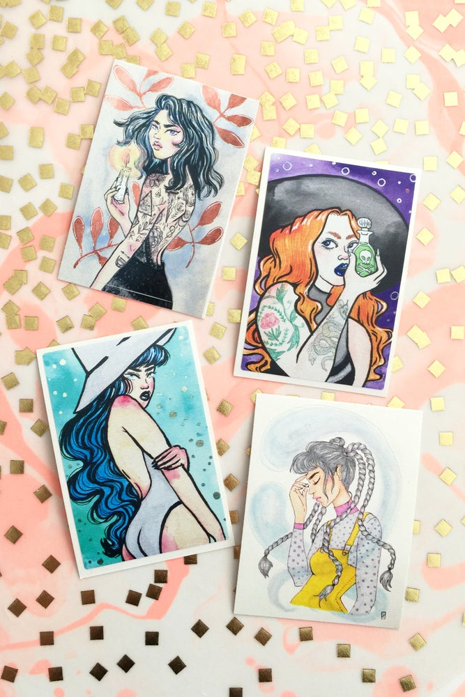 Image of PULP WITCH ART STICKERS