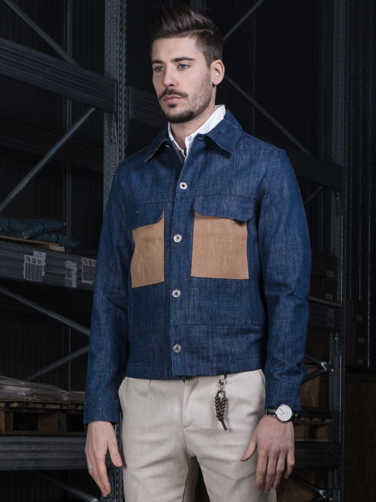 Image of DENIM JACKET INDIGO BLUE R89BI