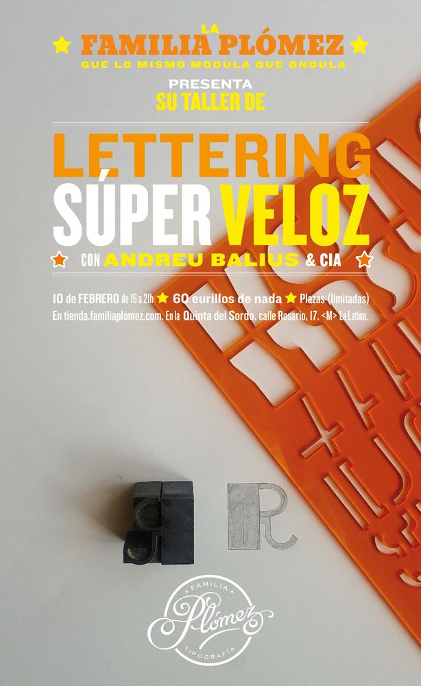 Image of Taller Lettering SúperVeloz