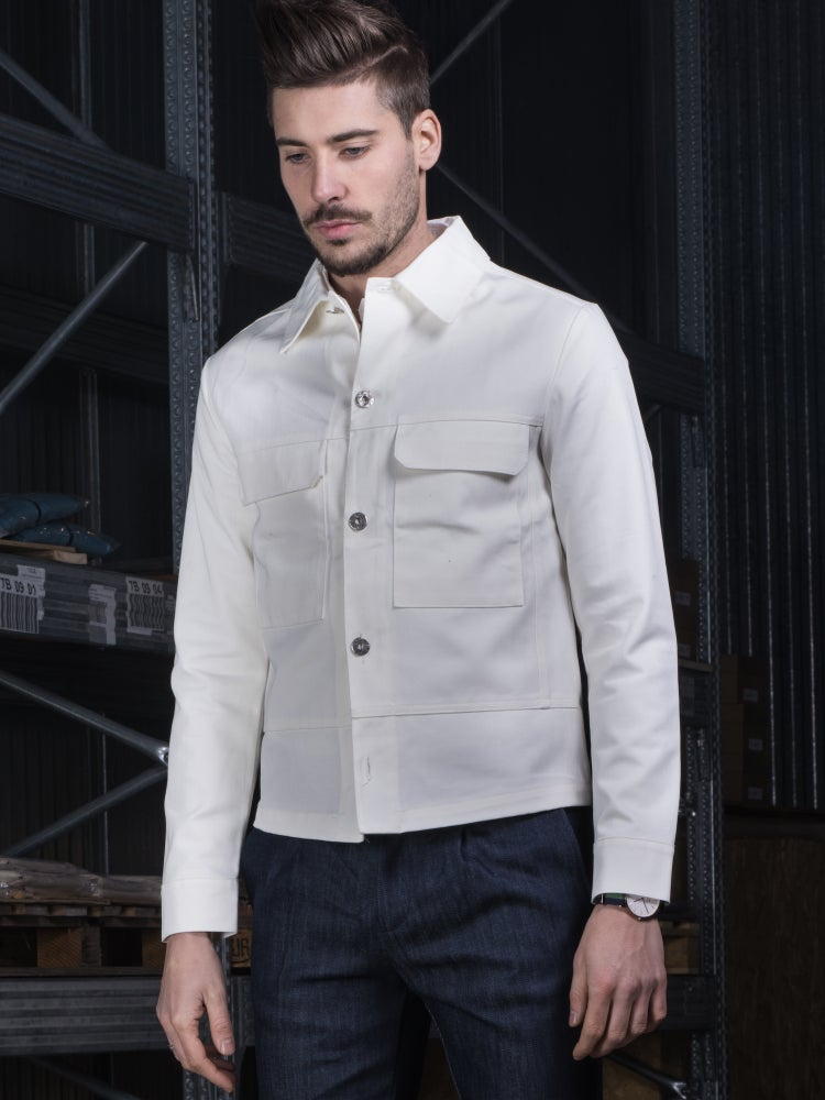 Image of DENIM WHITE JACKET R89B