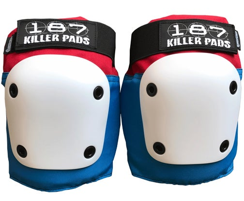 Image of FLY KNEE PAD RED WHITE BLUE