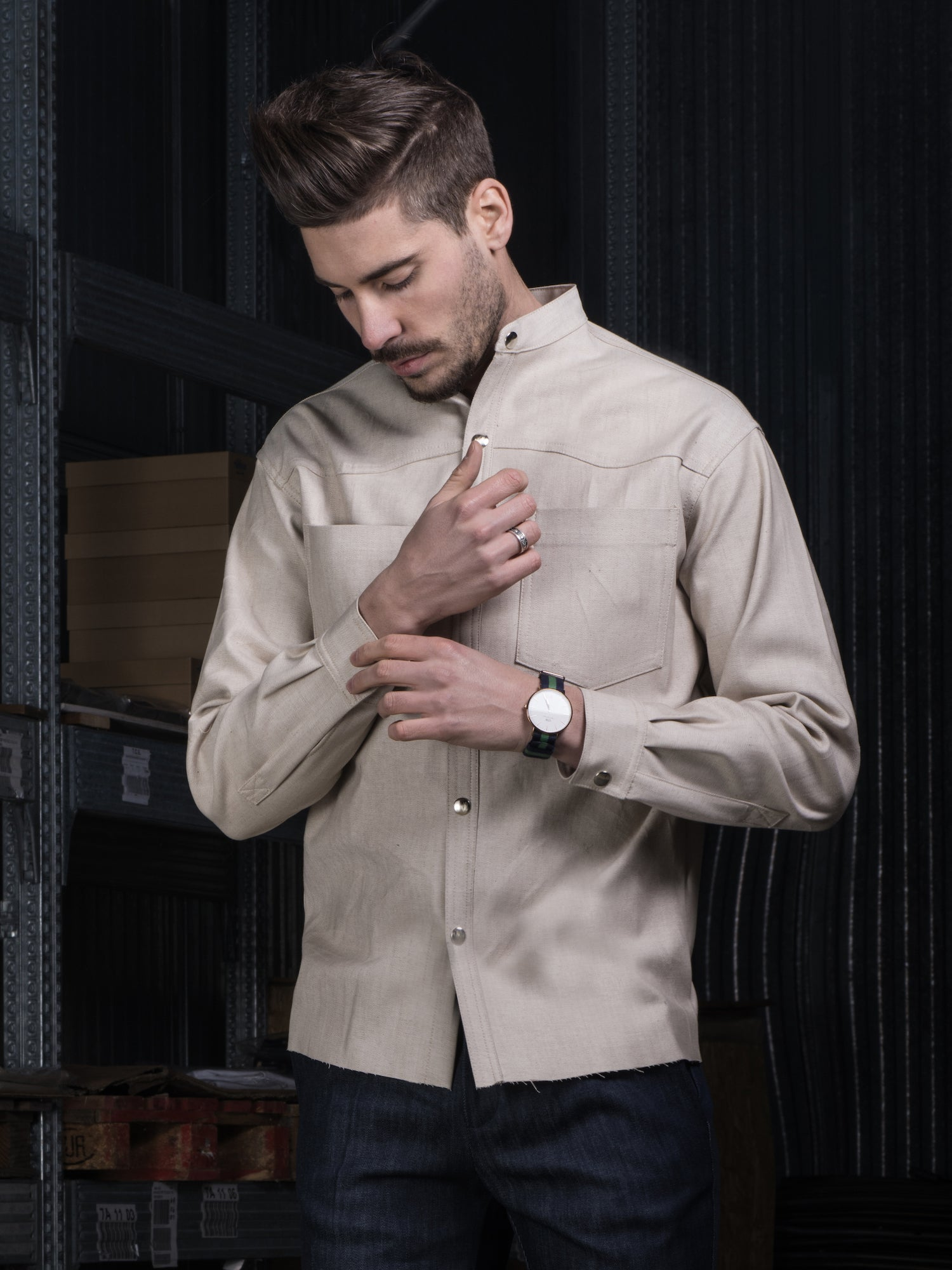 Image of DENIM BEIGE SHIRT CAM01BE