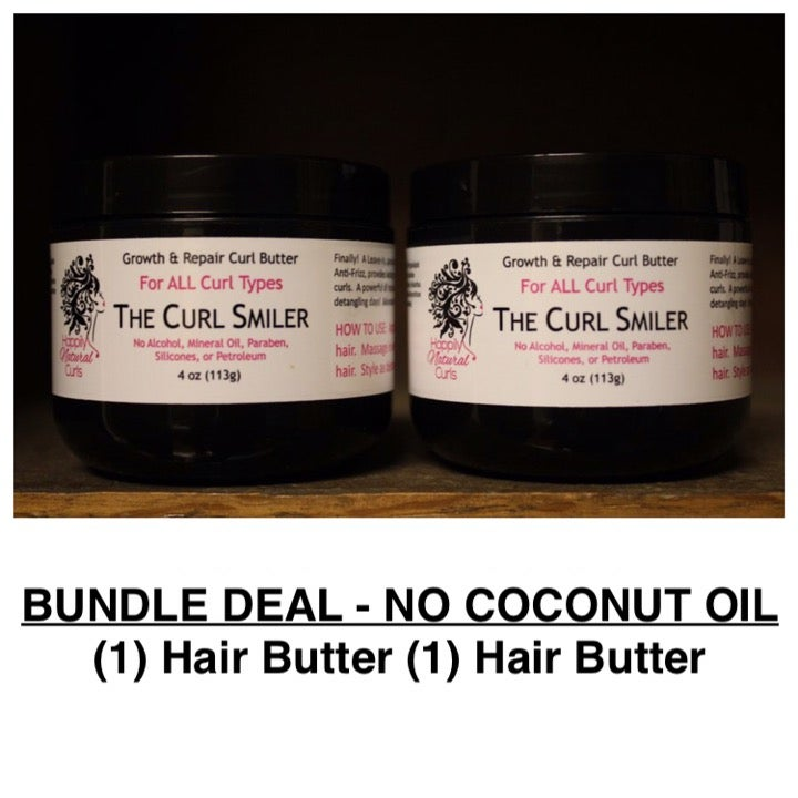 Image of BUNDLE - NO COCONUT OIL - (1) Hair Butter + (1) Hair Butter