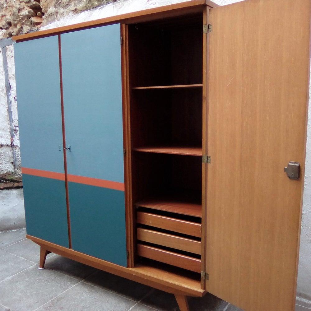 Image of Dressing vintage 3 portes - Miroir