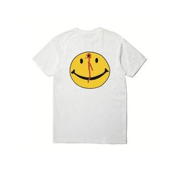 Image of PLEASURES X CHINATOWN MARKET - SMILEY TEE (WHITE)
