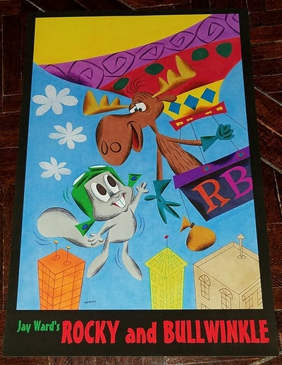 Image of ROCKY and BULLWINKLE 11x17 PRINT