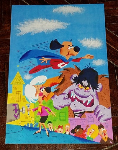 Image of UNDERDOG 1975 10x12.5 COMIC BOOK COVER ART PRINT