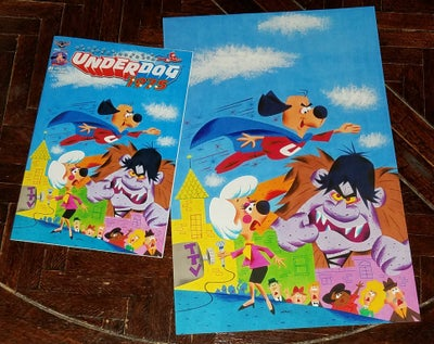 Image of UNDERDOG 1975 COMIC BOOK and 10x12.5 COMIC BOOK COVER ART PRINT