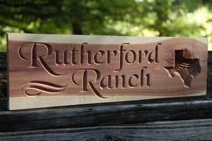 Image of Personalized Wood Sign - CNC Custom Carved Aromatic Cedar Wood Sign - Horses