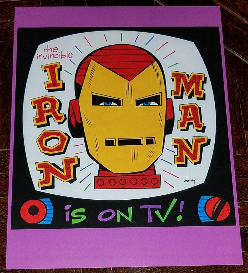 Image of IRON MAN IS ON TV! 8.5x11 SKETCHBOOK PRINT