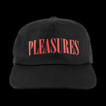 Image of PLEASURES - LOGO CAP (BLACK)