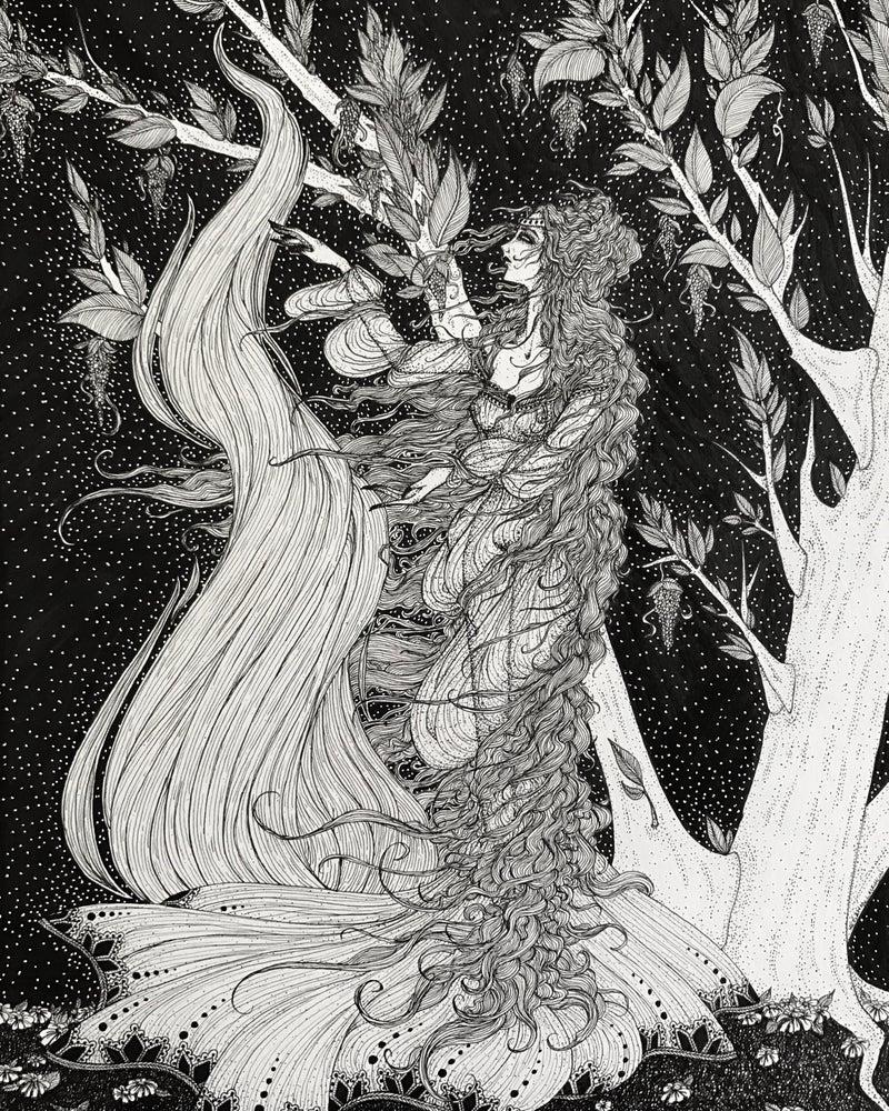 Image of Framed Original: 'The Incantation of Morgan Le Fay'