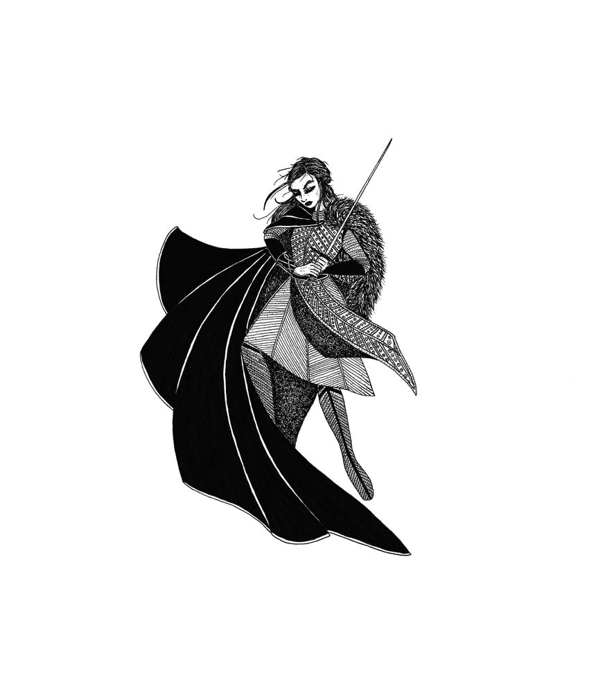 Image of Framed Original: 'Arya Stark: The Princess of Winterfell'