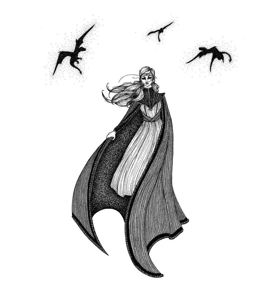 Image of Framed Original: 'Daenerys Targaryen: The Dragon Queen'