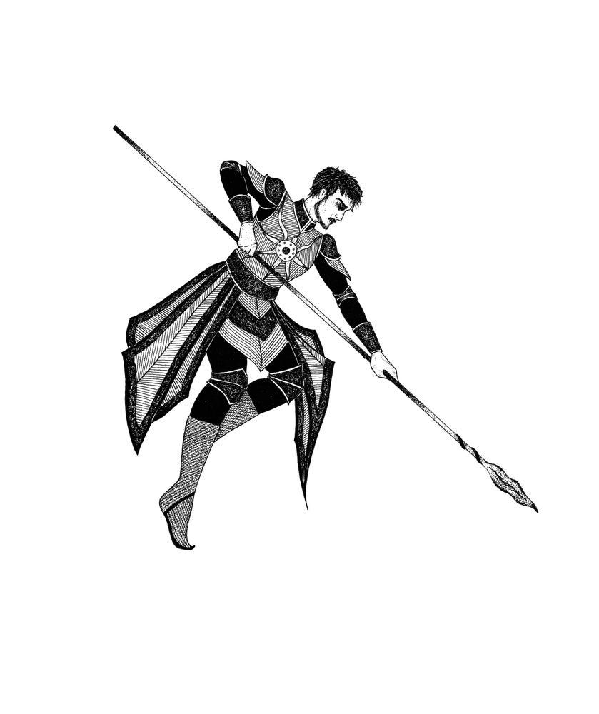 Image of Original Artwork: 'Oberyn Martell: The Red Viper'