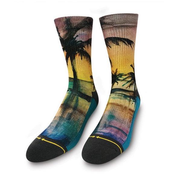 Image of Liquid Sunset, Merge4 Socks