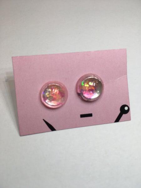 Image of Floating Flakies Resin Earrings
