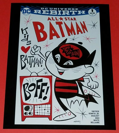 Image of KIDS LOVE BATMAN! BOFF! 8.5x11 ALL-STAR BATMAN SKETCHCOVER PRINT