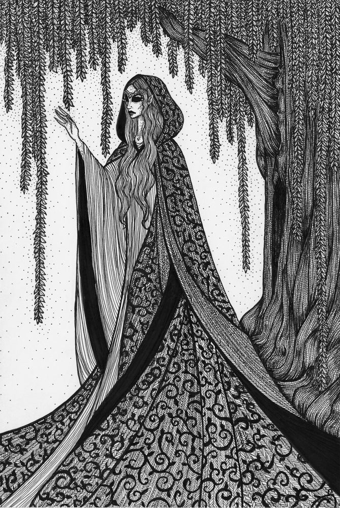 Image of Original Artwork: 'Lady Galadriel: When All Other Lights Go Out'