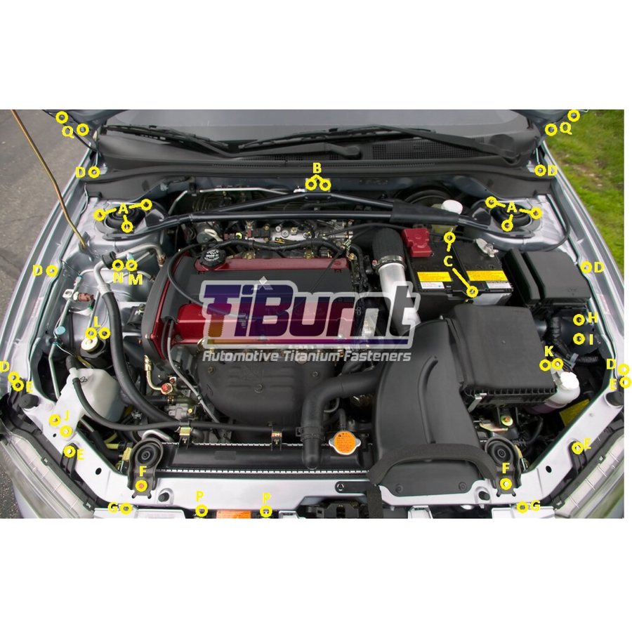 Image of Mitsubishi EVO 9 TiBurnt Elite Engine Bay Kit