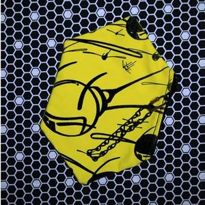 Image of BLACK & YELLOW HONEYCOMB CLUTCH PURSES