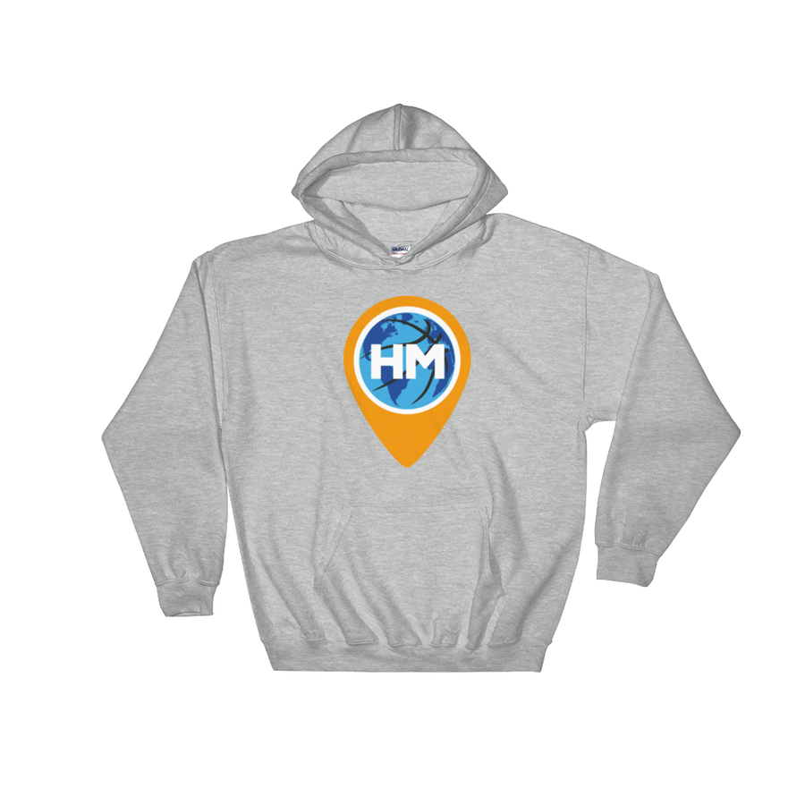 Image of Gildan 18500 Heavy Blend Hooded Grey Sweatshirt