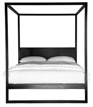Image of Strand Four Poster Bed French Oak