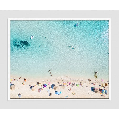 Image of Ocean Beach Shore Framed
