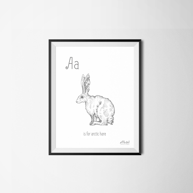 Image of Little Dot Alphabet Prints