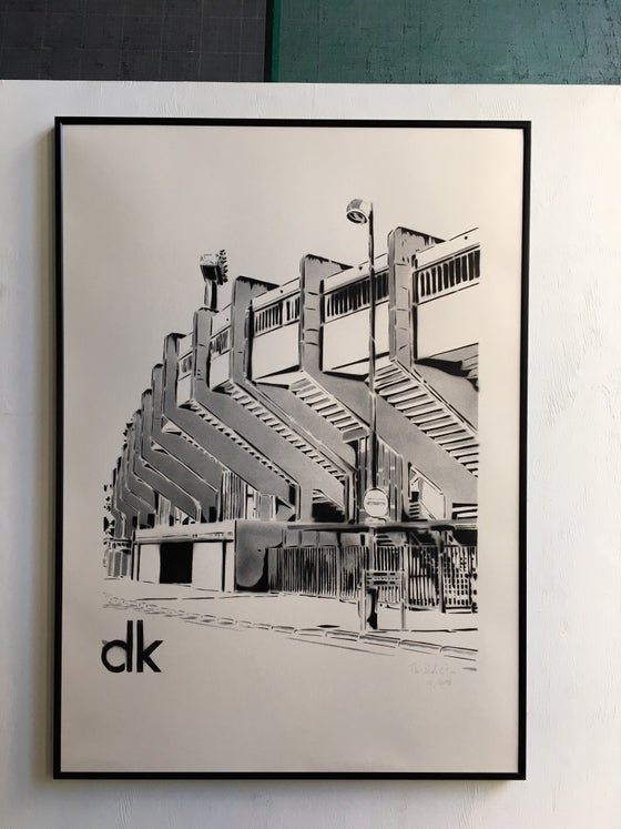 Image of Stade Marcle Tribut - Dunkerque - Monochrome