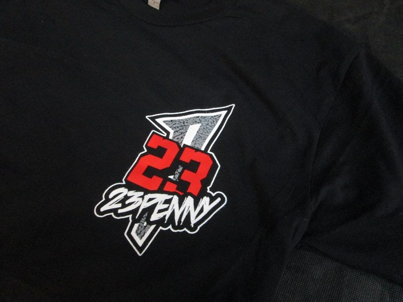"""Image of 23PENNY """"Black Cement"""" Chest Logo tee"""