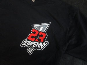 "Image of 23PENNY ""Black Cement"" Chest Logo tee"