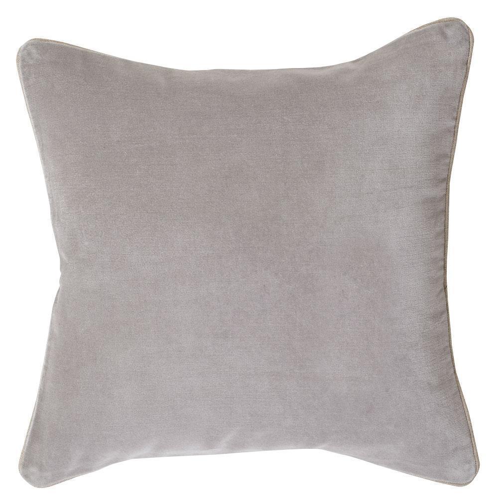 Image of Gabriel Velvet Cushion Grey