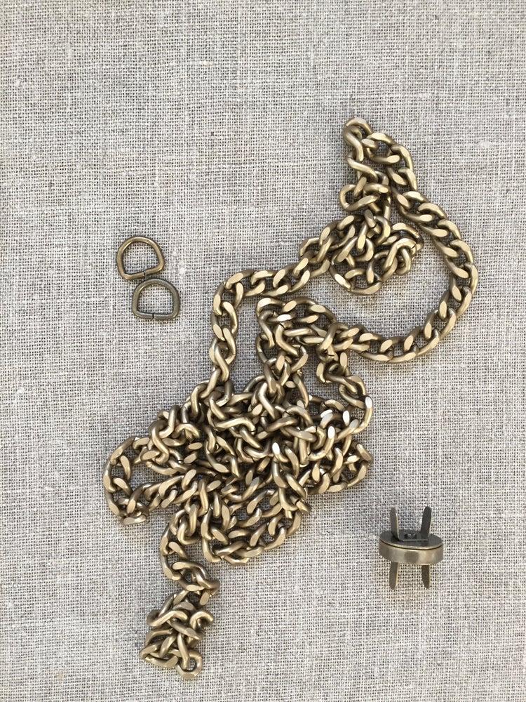 Image of Kæde, magnet og D-ringe til Hollytasken