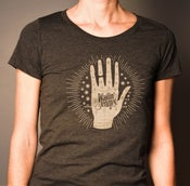 Image of Women's T-shirt - The Wailin' Jennys '15' Hand/Cover Design - Runs Small