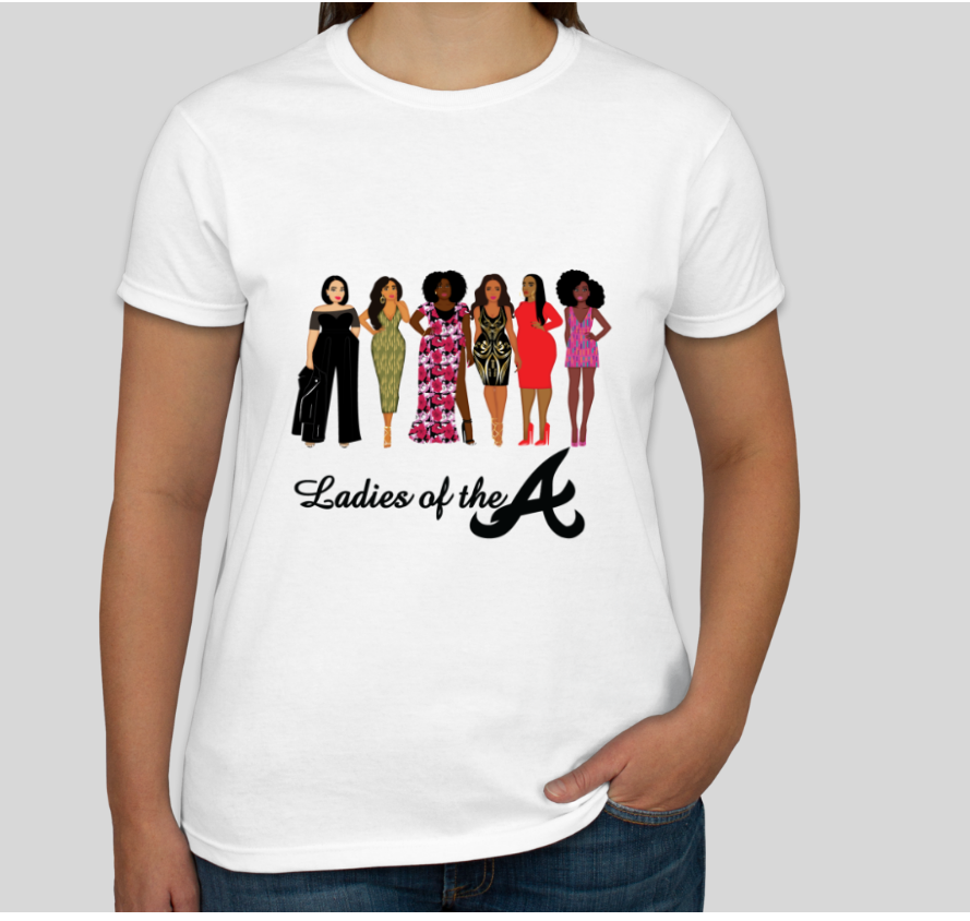 Image of Ladies of the A Official White Tee
