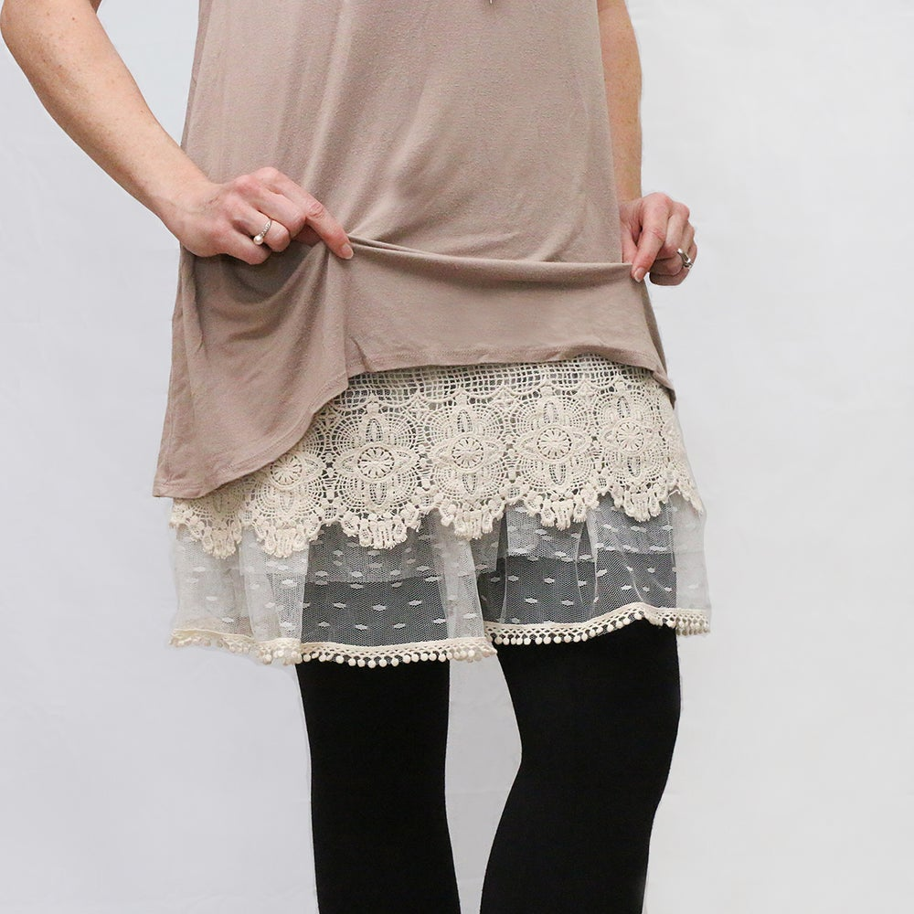 Image of Lace Layers Top Extender 7 *T7* Longer length S-L