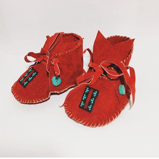 Image of LITTLE POLYWOGS- handmade baby moccasins