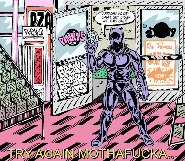 "Image of ""BLACK PANTHER AT PINKY'S"" PRINT"