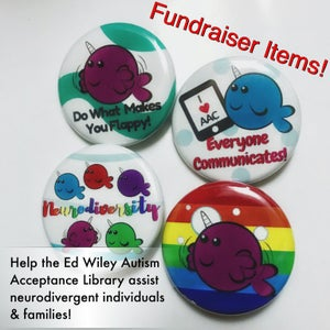 Image of Neurodiversity Narwhals Buttons