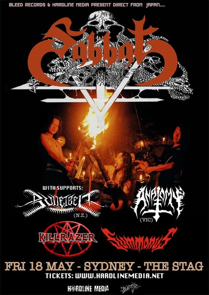 Image of TICKET (GA) SABBAT - SYDNEY, BALD FACED STAG - FRI, 18 MAY, 2018
