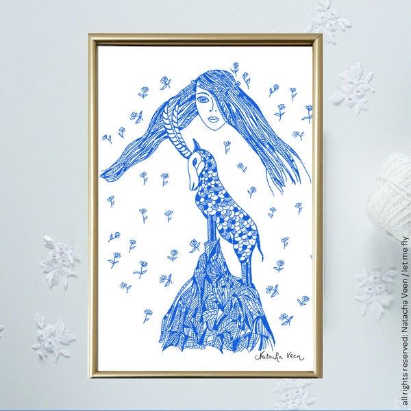 Image of Blue *Deusa*_A6