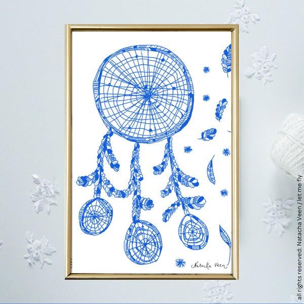 Image of Blue *Dreamcatcher*_A6