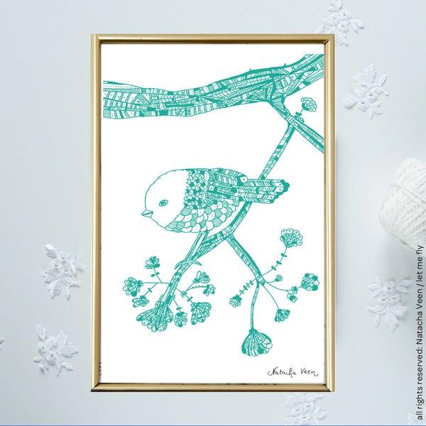 Image of Green *mini-bird*_A6