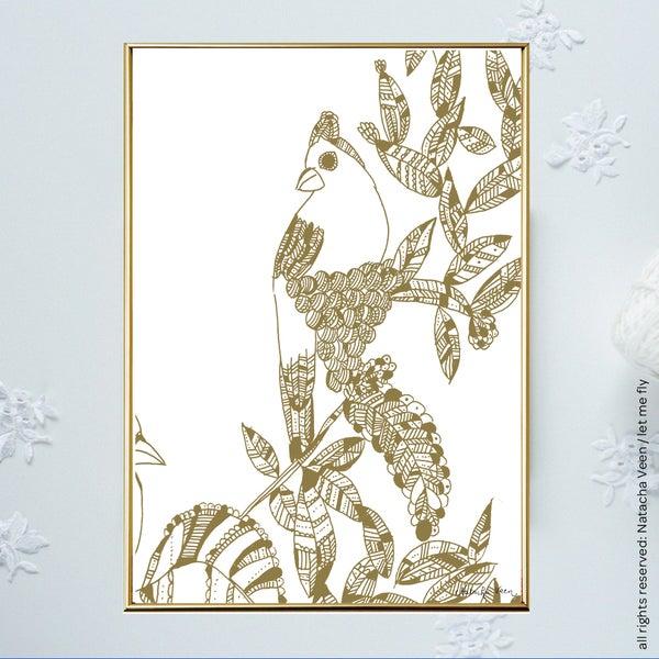 Image of Gold *Summer Bird*_A6